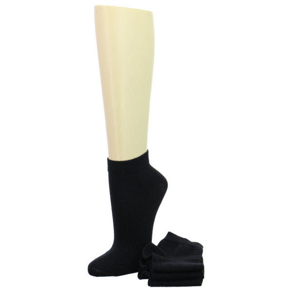 SOFT Quarter Comfort-Socken 3-er Schwarz