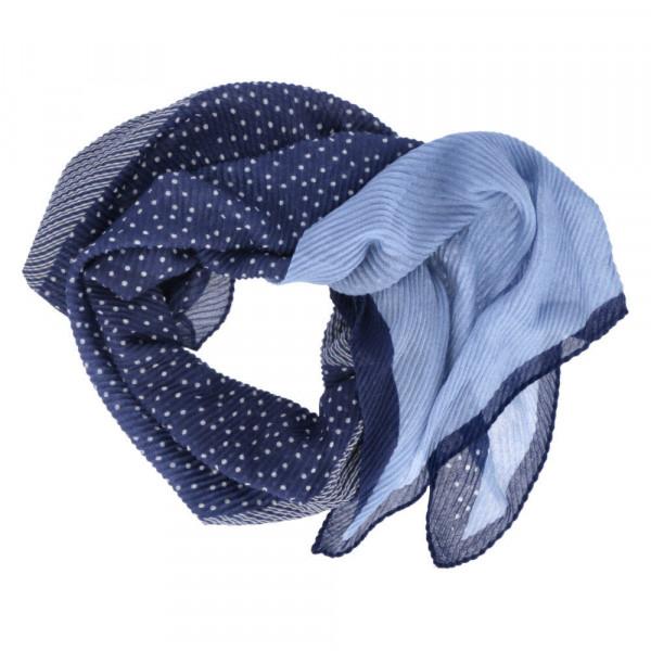 Schal PLISSEE Blau - Bild 1